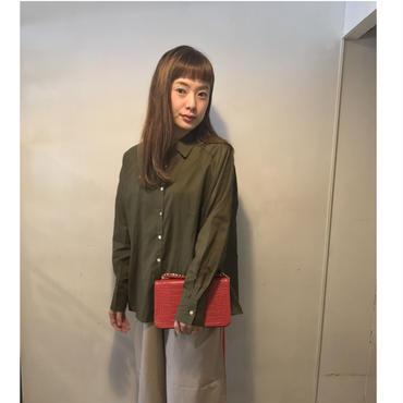 ラグランlightシャツ/khakibrown
