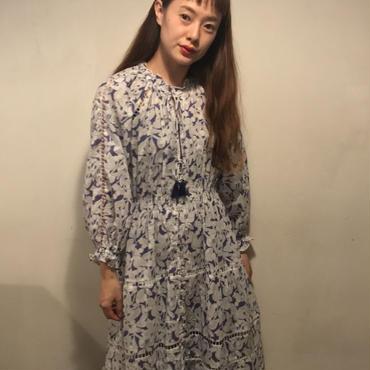花柄サマードレス/lavender
