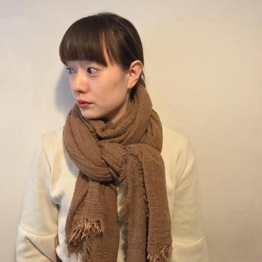 無地ロングストール/camel