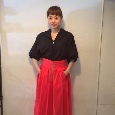 RaglanFrontZIPスカート/red