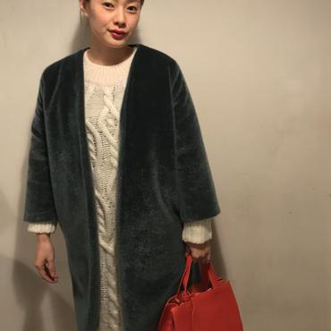 ファーノ―カラーcoat/D,GREEN