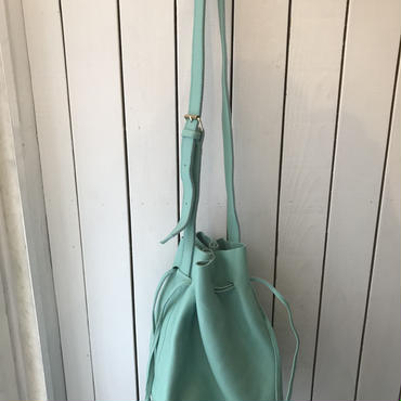 Letherショルダーbag/EMERALD GREEN