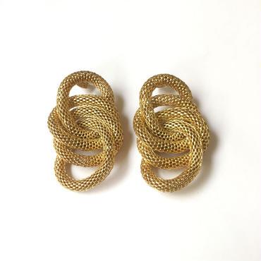 輪っかメッシュチェーンピアス/GOLD