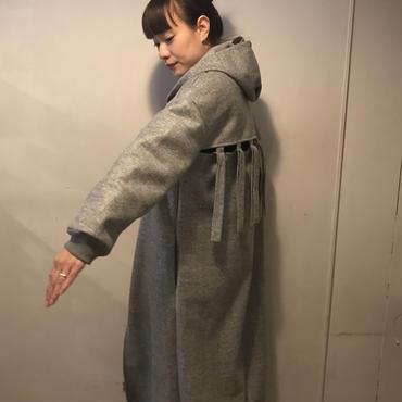 BACKデザインZIPコート/GRAY