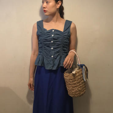 フレアLONGスカート/BLUE