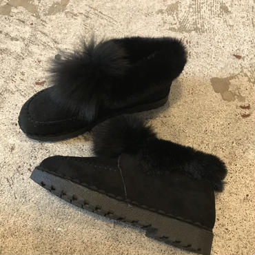bonbonファームートンブーツ/BLACK