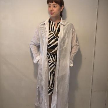 ロングガーゼシャツ/white