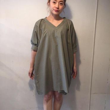 RaglanBIGシャツワンピース/khaki