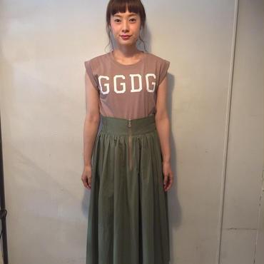 RaglanFrontZIPスカート/khaki