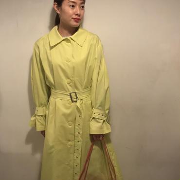 バックフレアプリーツコート/yellow