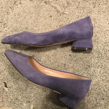 suedeローヒールpumps/lavender39