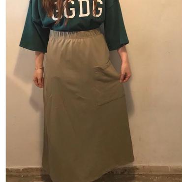 BIGポケットスウェットスカート/khaki