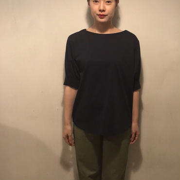 ギャザーsleeve tops/navy