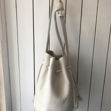 Letherショルダーbag/WHITE