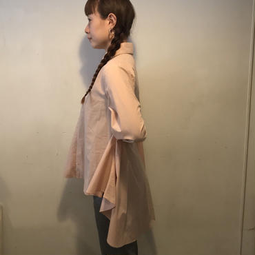 BACKボリュームフレアスキッパーshirt/PINK