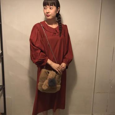 SALE☆ボリュームスリーブ襟ワンピース