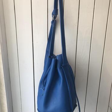 Letherショルダーbag/BLUE