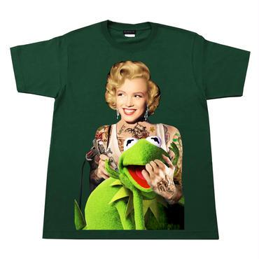 RARETE (ラルテ)   マリリンモンロー  Frog  Tシャツ  フォレストグリーン  Tシャツ 星柄 star