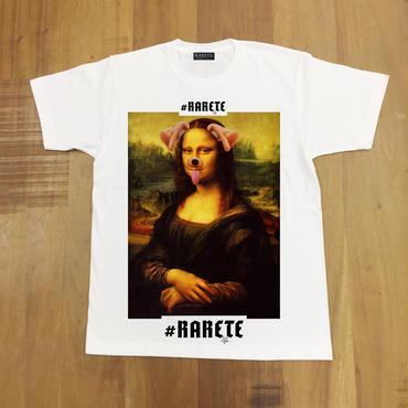 RARETE (ラルテ) モナリザ アプリ dog Tシャツ ホワイト 星柄 star