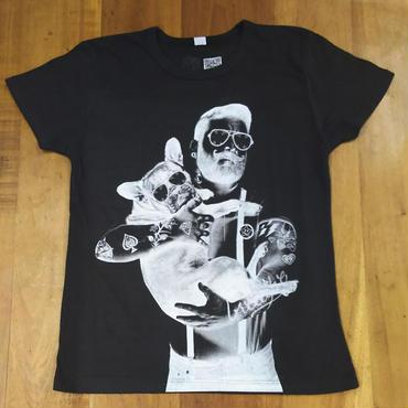 RARETE (ラルテ)  Dog 外人 イギリス サングラス  タトゥー Tシャツ スミクロ  星柄 star  反転