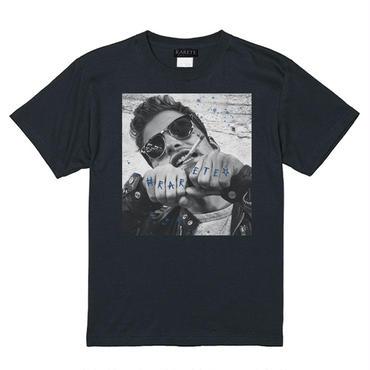 RARETE (ラルテ)   Tatoo  tobacco Men Tシャツ ブラック
