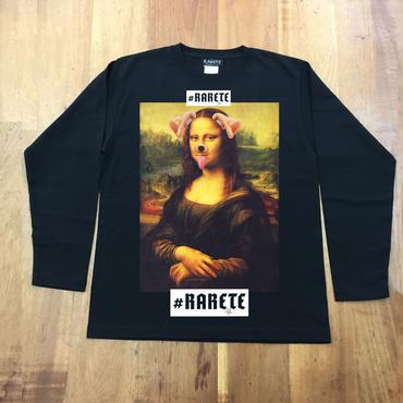 RARETE (ラルテ)  モナリザ アプリ dog  ブラック  長袖Tシャツ