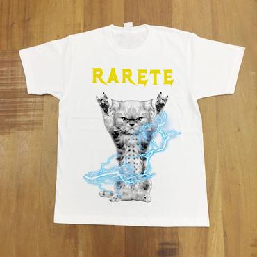 RARETE (ラルテ)  CAT イナズマ 猫 ホワイト  Tシャツ 星柄 star