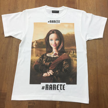 RARETE (ラルテ)    モナリザ 人形  Tシャツ ホワイト   星柄 star