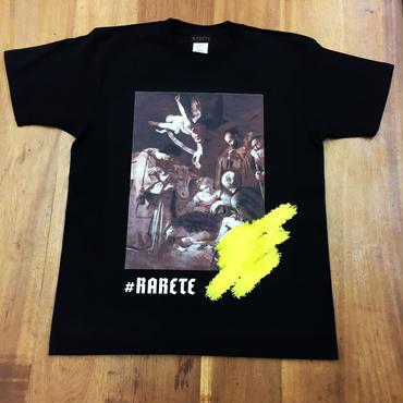 RARETE (ラルテ)   CARAVAGGIOT 天使  Tシャツ  ブラック  星柄 star