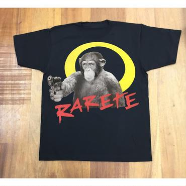 RARETE (ラルテ)   チンパンジー 拳銃   Tシャツ  ブラック  Tシャツ 星柄 star