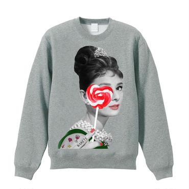 RARETE (ラルテ)  Hepburn  キャンディー  ハート グレイ  スエット 星柄 star (candy)