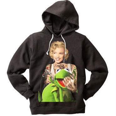 RARETE (ラルテ) マリリンモンロー Frog   パーカー  ブラック  星柄