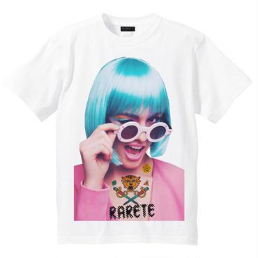 RARETE (ラルテ)   ウインク サングラス GIRL  Tシャツ ホワイト