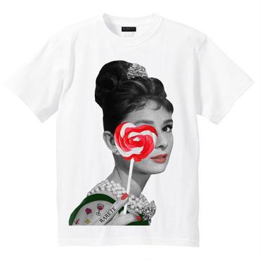 RARETE (ラルテ)    Hepburn キャンディー ハート Tシャツ  ホワイト