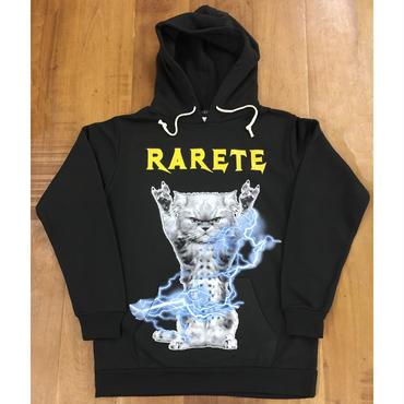 RARETE (ラルテ) CAT イナズマ 猫 パーカー ブラック 星柄 star