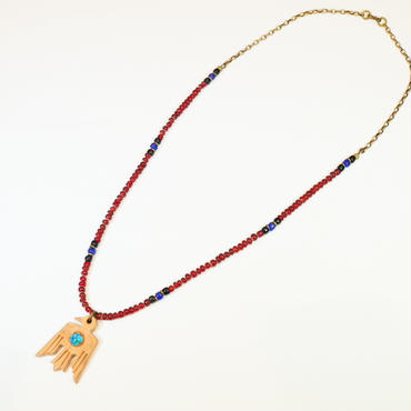 Thunderbird×Deep Red beads neclace