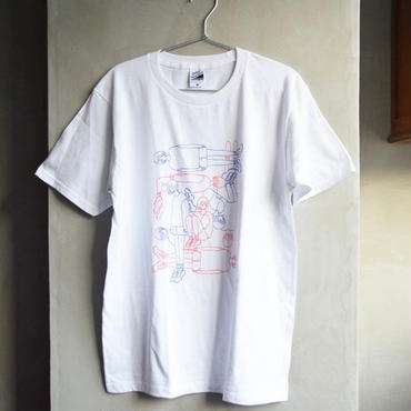 Red & Blue Girls Tシャツ