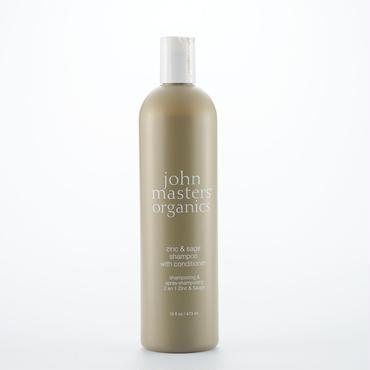 john masters organics ジョンマスターオーガニック Z&Sコンディショニングシャンプー(ジン&セージ)スリムビック 473ml 頭皮をケアし美髪の土台をつくる かゆみのある頭皮用