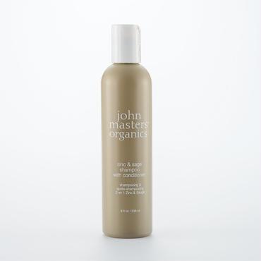 john masters organics ジョンマスターオーガニック Z&Sコンディショニングシャンプー(ジン&セージ) 236ml 頭皮をケアし、美髪の土台をつくる。 かゆみのある頭皮用