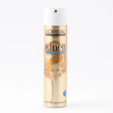 【無香料タイプ】ロレアル エルネットサテン207g   白くならないヘアメイクさん定番のハードスプレー