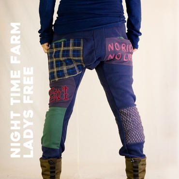 FARM PACH FLEECE PANTS/ NIGHT TIME FARM