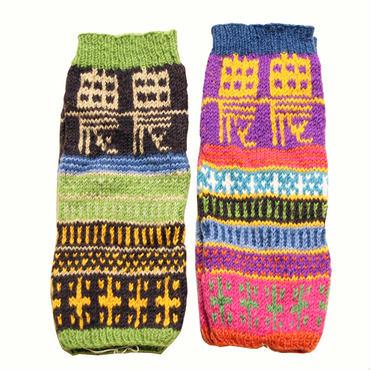 農レッグウォーマー 新作 手編み ニット