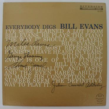 Bill Evans Trio  – Everybody Digs Bill Evans(Riverside Records – RLP 12-291)mono