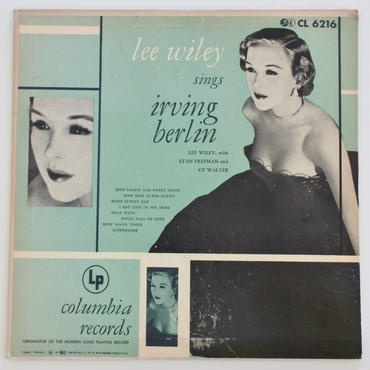 【LP+EPセット 】Lee Wiley ‎– Lee Wiley Sings Irving Berlin(Columbia ‎– CL 6216, B-307)