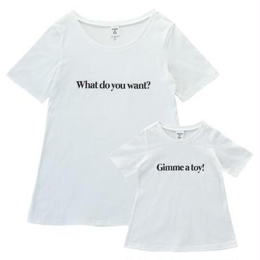 【Ladies & Girls】 親子で着ると会話になるメッセージTシャツセット