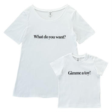 【Ladies & Kids】 親子で着ると会話になるメッセージTシャツセット