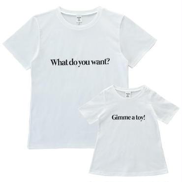【Mens & Girls】 親子で着ると会話になるメッセージTシャツセット