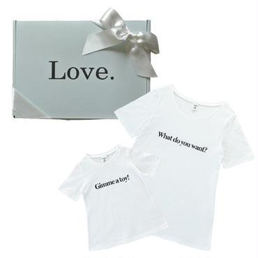 【Ladies & Girls】 メッセージTシャツ ギフトセット