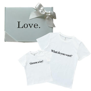 【Mens & Kids】 メッセージTシャツ ギフトセット