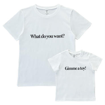 【Mens & Kids】 親子で着ると会話になるメッセージTシャツセット